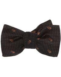 Alexander McQueen Polka Dot Bow Tie - Blue