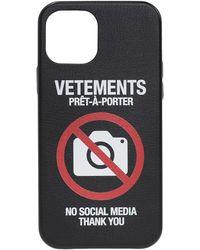 Vetements Iphone 12 Pro Case Unisex - Black