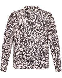 Zadig & Voltaire Leopard-printed Shirt Cream - Multicolor