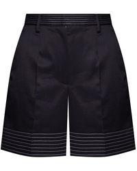 MM6 by Maison Martin Margiela Pleat-front Shorts - Black