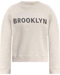 Victoria, Victoria Beckham Printed Sweatshirt - Grey