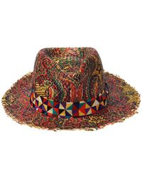 Etro - Printed Woven Hat - Lyst