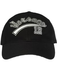 62e049a531b Lyst - Versace Versace Accessories Leather Mesh Cap Black in Black ...