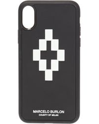 Marcelo Burlon Iphone X Cross 3d Case - Black
