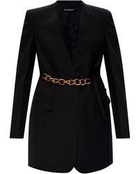 Givenchy Wool Blazer With Notch Lapels Black