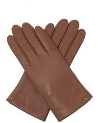 COACH Leather Gloves - Brown