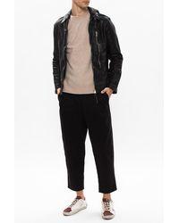 AllSaints 'swithin' Leather Jacket Black