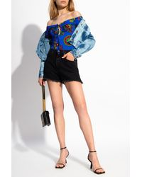 Versace Jeans Couture Bodysuit With Logo - Blue