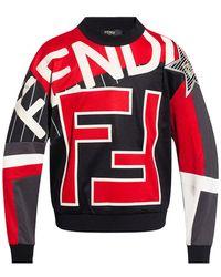 Fendi Sweatshirt With Logo - Red