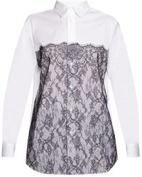 RED Valentino Lace-trimmed Shirt - White