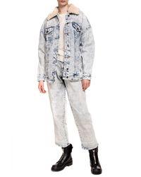 Michael Kors Distressed Denim Jacket - Blue