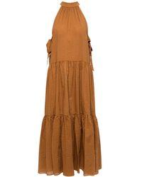 Marysia Swim Dress With Gathers Brown