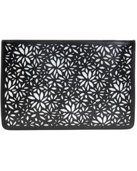 Alaïa Openwork Pattern Clutch Black