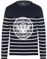 Balmain Patterned T-shirt - Blue