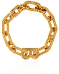 Balenciaga Bracelet With Logo Gold - Metallic