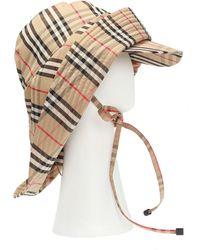 Burberry Animal-print Technical-twill Rain Hat - Multicolour