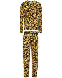 Versace Patterned Pyjama - Yellow