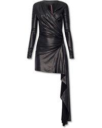 Rick Owens Lilies Asymmetrical Dress - Black