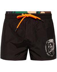 DIESEL Swim Shorts With Logo Black