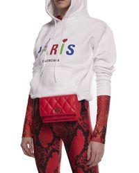 Balenciaga 'sharp' Belt Bag Red