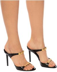 Versace Golf Mule Stiletto Heels - Black