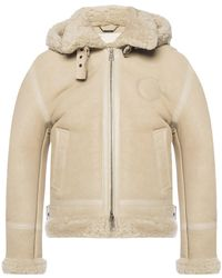 Chloé Shearling Suede Jacket - Natural