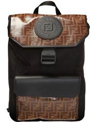 Fendi Monogram Backpack - Black