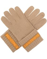 Burberry Cashmere Gloves - Natural