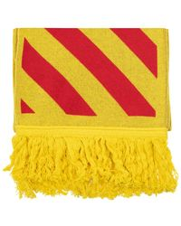 Off-White c/o Virgil Abloh Reversible Scarf With Logo Yellow