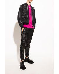 Saint Laurent Leather Trousers Black