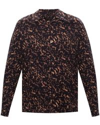 AllSaints - 'tortoiseshell' Shirt Black - Lyst