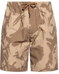 Moncler Camo Print Shorts - Brown