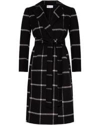 RED Valentino Checked Coat Black