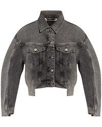 AllSaints 'two Tone' Denim Jacket - Gray