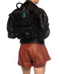 Tory Burch Perry Nylon Flap Backpack - Black