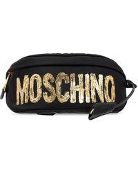 Moschino Belt Bag With Logo - Black