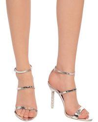 Sophia Webster - 'rosalind' Stiletto Sandals Silver - Lyst
