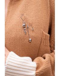 Marni Embellished Brooch - Metallic