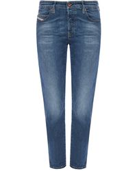 DIESEL 'babhila' Distressed Jeans - Blue