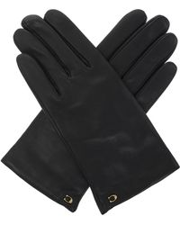 COACH Leather Gloves - Black