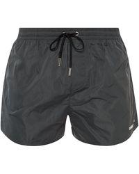 DSquared² Printed Swim Shorts - Gray