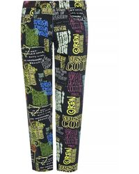 Versace Jeans Patterned Jeans - Green