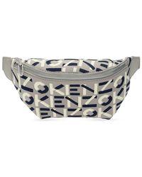 KENZO Belt Bag With Logo - Grey