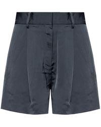 AllSaints 'rafaella' High-waisted Shorts Navy Blue