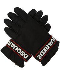 DSquared² Branded Ski Gloves - Black