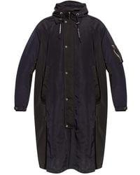 Emporio Armani Coat With Pockets Navy Blue