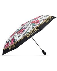 Moschino Umbrella With Logo Unisex Multicolour