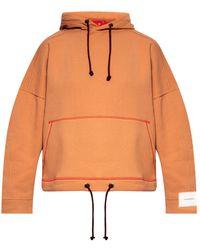 Victoria Beckham Hoodie With Logo - Orange