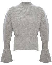 Alexander Wang - Rib-knit Turtleneck Sweater Grey - Lyst