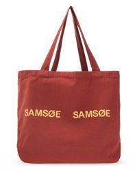 Samsøe & Samsøe Shopper Bag - Red